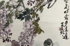 12. Seven Chicks and wisteria_1981_95.5x44cm